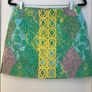 Lilly Pulitzer Mini Skirt w/ builtin shorts size 6